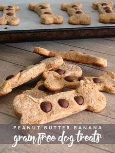 Need a new treat for your pup? Try these four ingredient peanut butter banana grain free dog treats!