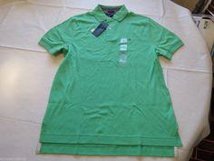 Men's Tommy Hilfiger Polo shirt solid logo XL xlarge 7854827 Brando Green 329  #TommyHilfiger #polo