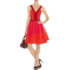 Karen Millen Colour Contrast Dress Red K424R   http://www.euroshoesinbox.com/karen-millen-colour-contrast-dress-red-k424r-p-9191.html