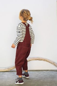 overalls and stripes