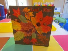 """The children's book """"Leaf Man"""" by Lois Ehlert takes a fun look at how leaves combined with other items from nature can take on the features of different animals or even people…includes activities"""