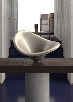 Flower free-standing baths by Marco Pisati for Glass Design