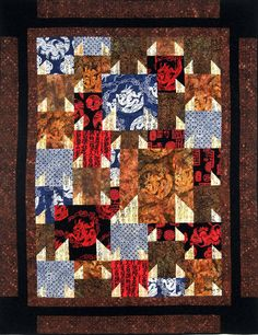 Yakata quilt- pattern by Aardvark quilts, done in Artisan batiks