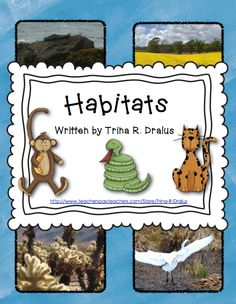 Habitats! Habitat unit! This mini-unit is great for reviewing habitats. It includes habitats from the rainforest, wetlands, and more! Students work in teams to research and share about habitats. ($) #habitats #habitatunit