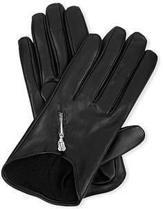 Causse Gantier Short zipped leather gloves