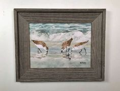 Sandpipers Framed Wall Art 19 x 21""""