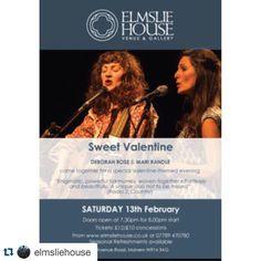 #Repost @elmsliehouse with @repostapp.  On Saturday 13th February we have the wonderful Deborah Rose and Mari Randle performing #sweet #valentine Link for tickets (12 each) in bio