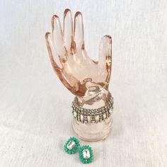 Vintage Pink Glass Hand