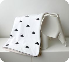 black triangle baby blanket (custom made with other patterns too)