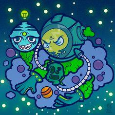 Behance, Wacom Intuos, Jobs Apps, Adobe Illustrator, Gallery, Creative, Illustration, Art, Astronaut
