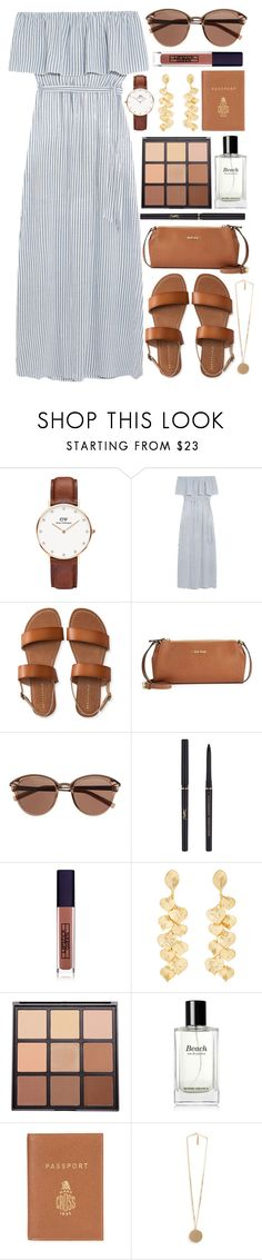 """""""...far away"""" by gwynnieluree ❤ liked on Polyvore featuring Daniel Wellington, Alice + Olivia, Aéropostale, Calvin Klein, Witchery, Yves Saint Laurent, Lipstick Queen, Kenneth Jay Lane, Morphe and Bobbi Brown Cosmetics"""