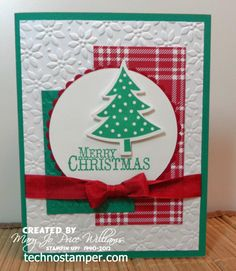 SU! Scentsational Seasons stamp set; colors are Garden Green, Whisper White and Cherry Cobbler - Mary Jo Price-Williams