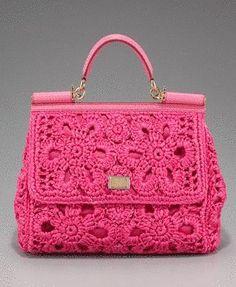Achados........dali e daqui - photo of a crochet handbag