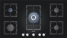 Buy Siemens Rotary Control Five Burner Gas-on-glass Hob Black from Appliances Direct - the UK's leading online appliance specialist