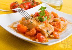 Morue tomates et vin blanc - 5 minutes preparation, 25 de cuisson