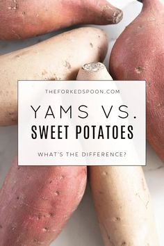 They may both grow underground and appear similar on the surface, but what are the real differences between sweet potatoes and yams? In this post, we will debunk myths, share similarities, and point out the differences between these fall favorites: Sweet Potatoes vs. Yams!
