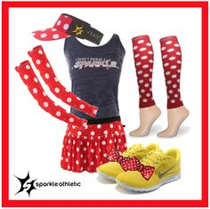 Minnie Mouse Running Costume - complete with Sparkle Athletic skirt, tank, sleeves, visor, race legs and Shwings! | runDisney | Running | Race Costume | Disney | Sparkle Athletic | #TeamSparkle | Halloween | Athletic Costume