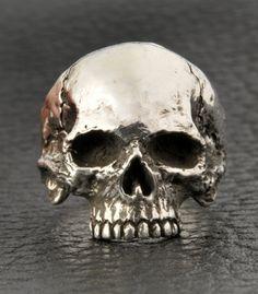 Skull Ring Silver Skull Ring Half Jaw Mens skull by DeadRings Gothic Wedding Rings, Skull Wedding Ring, Gothic Engagement Ring, Engagement Rings For Men, Mens Skull Rings, Silver Skull Ring, Silver Man, Crane, Vampire Skull