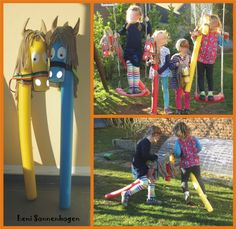 toller Anleitung :o))) (luni & druetken) Outdoor Games For Kids, Fun Activities For Kids, Diy Crafts For Kids, Horse Birthday Parties, 4th Birthday, Noodle Horse, Knight Party, Horse Party, Cowboy Theme