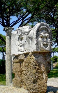 Theater Masks at the Theater in Ostia Antica - The Perfect Half Day Trip from Rome