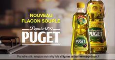 La bouteille d'huile d'olive Puget