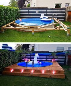 these spots you can put your swimming pool in the right place and can . With these spots you can put your swimming pool in the right place and can . With these spots you can put your swimming pool in the right place and can . Piscina Diy, Diy Swimming Pool, Diy Pool, Kiddie Pool, Pool Pool, Swimming Pool Designs, Backyard Pool Designs, Backyard Ideas On A Budget, Backyard Decks