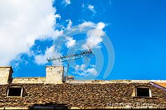 Antenna On Roof A - Download From Over 63 Million High Quality Stock Photos, Images, Vectors. Sign up for FREE today. Image: 97058132