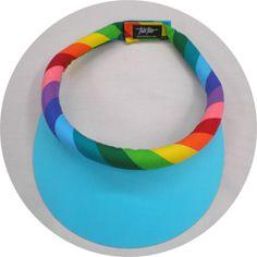 Small Turquoise Brim w/ Multicolor Stripe Band w/Velcro Closure