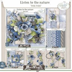 Listen to the Nature by Moosscrap's Designs http://digital-crea.fr/shop/index.php?main_page=index&manufacturers_id=182 http://www.oscraps.com/shop/Guest-MoosScraps/