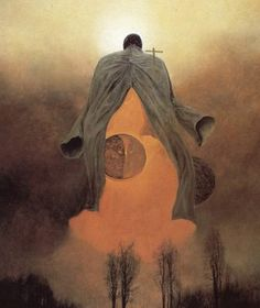 Surrealist paintings by Polish artist Zdzislaw Beksinski - beyond gorgeous