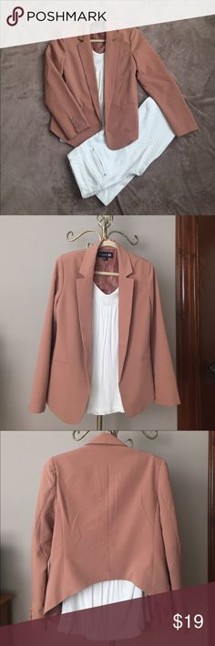 Adorable Nude Blazer The perfect blazer to dress up a casual look or nice enough to wear to the office. Shorter in the back to ensure your figure is not hidden! Forever 21 Jackets & Coats Blazers