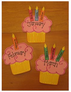 For homeschooling, we could have cupcakes and birthdays marked with loved ones and friends' birthdays.