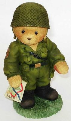"""Armyman Teddie """"Great Friendships Help A Soldier Stand Tall"""""""