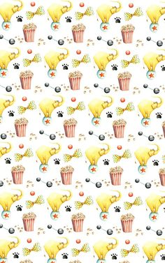 Find images and videos about pattern, elefante and popcorn on We Heart It - the app to get lost in what you love. Pattern Paper, Fabric Patterns, Print Patterns, Cute Pattern, Pattern Design, Circus Illustration, Conversational Prints, Image Paper, Boy Cards