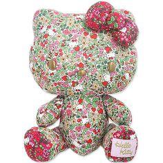 Hello Kitty Liberty print softie Liberty Art Fabrics, Liberty Print, Liberty Of London, Softies, Pattern Art, Flower Patterns, Hello Kitty, Floral Design, Inspired
