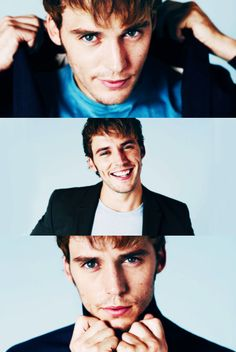 Sam Claflin aka Finnick Odair in Catching Fire. He's so pretty! :)