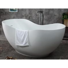 Spa inspired bathtubs such as the ALFI brand free standing resin soaking tubs, have become a popular choice for individuals looking to add a sculptural element to their bathroom décor. These tubs do not include features such as jets or bubbles, let