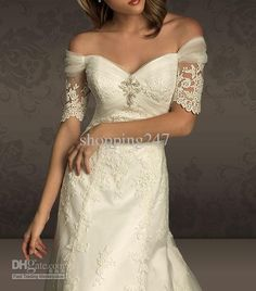Dress details this slim gown has a soft bateau shaped for Adding sleeves to a wedding dress
