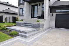 """Check out our internet site for additional info on """"patio pavers diy"""". It is actually a great area to find out more. Front Door Landscaping, Shade Landscaping, Modern Landscaping, Landscaping Ideas, Pavers Ideas, Lawn And Landscape, House Landscape, Front Porch Steps, House Front Design"""