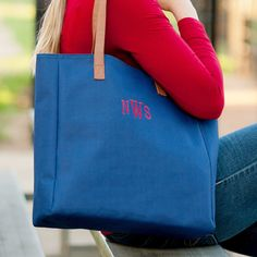 Monogrammed Game Day Tote Bags  Multiple by SEmbroideredBoutique