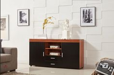 This walnut/ black bedroom chest of drawers offers superb quality with durable wood. Manufactured from high grade thick and strong board. The handles are finished in a modern high quality aluminium alloy design.