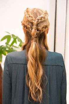 Pin for Later: Get Game of Thrones Hair With This Inside-Out Braid Tutorial Final Look: Back View Now you'll be able to fight any battle that comes your way with fierceness, just like the Game of Thrones star! Photos by Caroline Voagen Nelson Individual Braids Hairstyles, Box Braids Hairstyles, Pretty Hairstyles, Hairstyle Ideas, Hairstyle Braid, Hairstyle Tutorials, Wedding Hairstyle, Formal Hairstyles, African Hairstyles