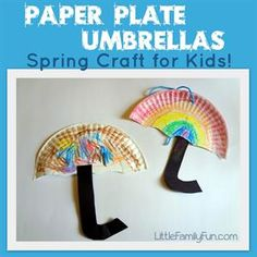 Paper Plate Umbrellas - Simple Spring Craft for Kids!