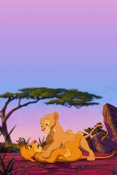 Disney Phone Wallpaper, Cartoon Wallpaper Iphone, Cute Cartoon Wallpapers, Disney Phone Backgrounds, Art Disney, Disney Films, Disney Cartoons, Simba Und Nala, Images Roi Lion
