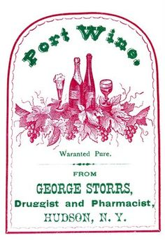 Vintage Clip Art - Port Wine Label - The Graphics Fairy