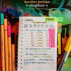 Oiiiiii, boa tarde!!! Fiz essa anotação porque acabo esquecendo dessas coisinhas simples. Vim aqui compartilhar com vocês! Amei a dica da tabelinha de km/h para m/s. Ajuda muito na hora de resolver as questões. Agora tô indo pra aula de matemática! Beijão, meus anjinhos! Bons estudos!!!! ❤ #boatarde #happy #fisica #medvempramim #foconamedicina #foconoenem #enem2017 #vemprouniverso #instastudy #dica #tabela #físicathebest #focoforcafe #determinacao #queromed #vousermed...