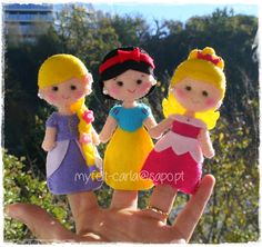 My Felt: Dedoches princesas em feltro!   Disney Princesses