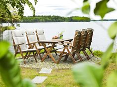Freja trädgårdsgrupp i furu, Em Home Em Home, Outdoor Furniture Sets, Outdoor Decor, Home Decor, Decoration Home, Room Decor, Home Interior Design, Home Decoration, Interior Design