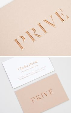 Privé: Luxury Business Card.