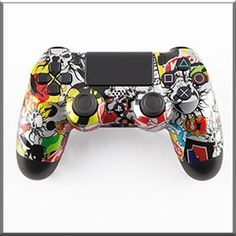Gunmetal Sticker Bomb PS4 Controller - http://www.gamermodz.com/gunmetal-sticker-bomb-ps4-modded-controller
